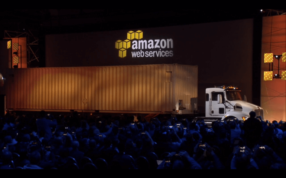 aws re:invent 2016 snowmobile