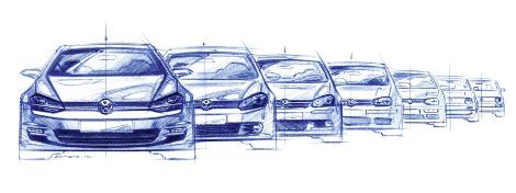 Evolution de la Volkswagen Golf